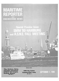 Maritime Reporter Magazine Cover Sep 1980 -