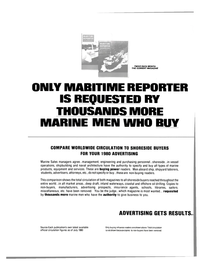 Maritime Reporter Magazine, page 3rd Cover,  Sep 1980 types ot marine products