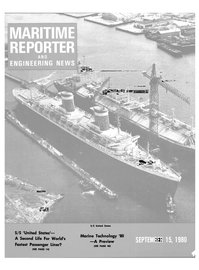 Maritime Reporter Magazine Cover Sep 15, 1980 -
