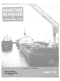 Maritime Reporter Magazine Cover Oct 15, 1980 -