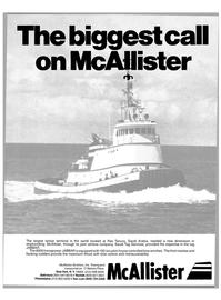 Maritime Reporter Magazine, page 1,  Oct 15, 1980 Saudi Tug Services