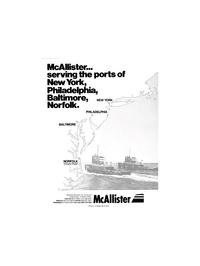 Maritime Reporter Magazine, page 1,  Nov 1980 McAllister Brothers Inc.