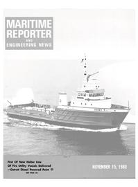 Maritime Reporter Magazine Cover Nov 15, 1980 -