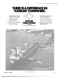 Maritime Reporter Magazine, page 11,  Dec 15, 1980 CURTIS BAY TOWING COMPANY