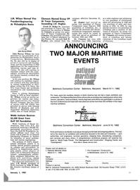 Maritime Reporter Magazine, page 41,  Jan 1981