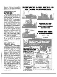 Maritime Reporter Magazine, page 47,  Jan 1981