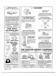 Maritime Reporter Magazine, page 57,  Jan 1981