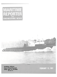 Maritime Reporter Magazine Cover Feb 15, 1981 -