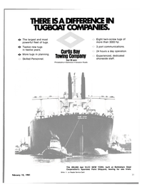Maritime Reporter Magazine, page 19,  Feb 15, 1981 CURTIS BAY TOWING COMPANY