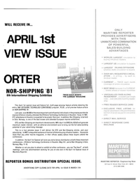 Maritime Reporter Magazine, page 31,  Feb 15, 1981 advertising message
