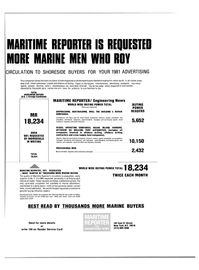Maritime Reporter Magazine, page 33,  Mar 15, 1981