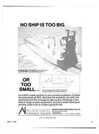 Maritime Reporter Magazine, page 15,  Apr 1981 Papua New Guinea