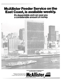 Maritime Reporter Magazine, page 1,  Apr 1981 McAllister Feeder Barge Division