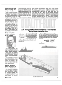 Maritime Reporter Magazine, page 9,  Apr 15, 1981 New York