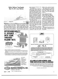 Maritime Reporter Magazine, page 13,  Apr 15, 1981