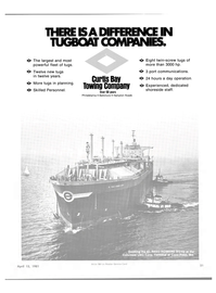 Maritime Reporter Magazine, page 19,  Apr 15, 1981 CURTIS BAY TOWING COMPANY