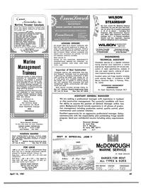 Maritime Reporter Magazine, page 57,  Apr 15, 1981