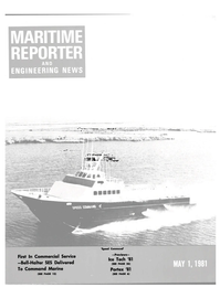 Maritime Reporter Magazine Cover May 1981 -