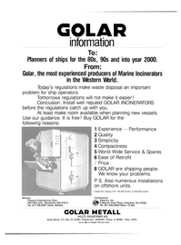 Maritime Reporter Magazine, page 2nd Cover,  May 1981