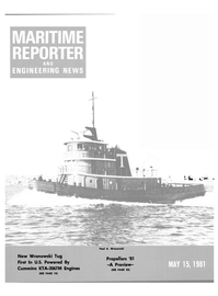 Maritime Reporter Magazine Cover May 15, 1981 -