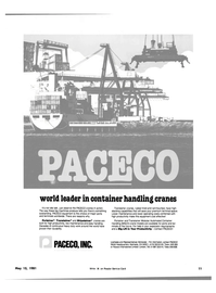 Maritime Reporter Magazine, page 9,  May 15, 1981 PACECO INTERNATIONAL LIMITED