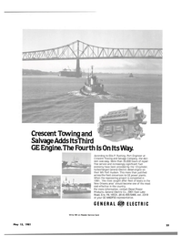 Maritime Reporter Magazine, page 21,  May 15, 1981 General Electric Co.