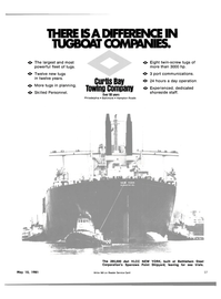 Maritime Reporter Magazine, page 25,  May 15, 1981 CURTIS BAY TOWING COMPANY