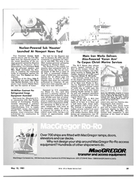 Maritime Reporter Magazine, page 37,  May 15, 1981