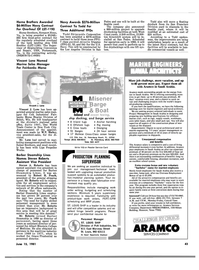 Maritime Reporter Magazine, page 41,  Jun 15, 1981