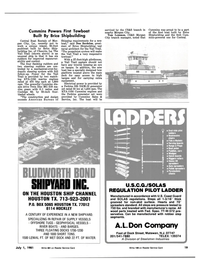 Maritime Reporter Magazine, page 17,  Jul 1981 Don Bordelon