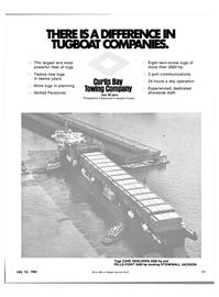 Maritime Reporter Magazine, page 9,  Jul 15, 1981 port communications