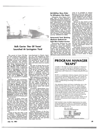 Maritime Reporter Magazine, page 3rd Cover,  Jul 15, 1981 Illinois