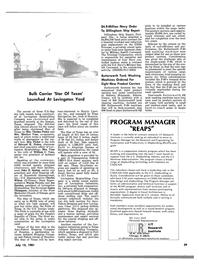 Maritime Reporter Magazine, page 3rd Cover,  Jul 15, 1981 Illinois