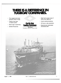 Maritime Reporter Magazine, page 15,  Aug 15, 1981 CURTIS BAY TOWING COMPANY
