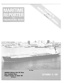Maritime Reporter Magazine Cover Sep 15, 1981 -
