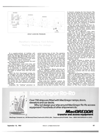 Maritime Reporter Magazine, page 4th Cover,  Sep 15, 1981 Marine Division