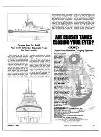 Maritime Reporter Magazine, page 61,  Oct 1981