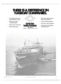 Maritime Reporter Magazine, page 19,  Oct 15, 1981 CURTIS BAY TOWING COMPANY