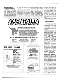 Maritime Reporter Magazine, page 44,  Oct 15, 1981 AUSTRALIAN OFFSETS MISSION Washington