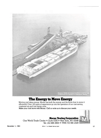 Maritime Reporter Magazine, page 17,  Nov 1981 Moran Ibwing Corporation