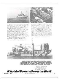 Maritime Reporter Magazine, page 59,  Nov 1981 production technology