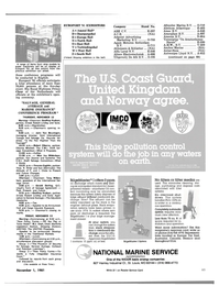 Maritime Reporter Magazine, page 4th Cover,  Nov 1981 Q.C.