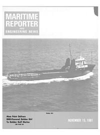 Maritime Reporter Magazine Cover Nov 15, 1981 -