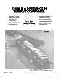 Maritime Reporter Magazine, page 13,  Nov 15, 1981 port communications