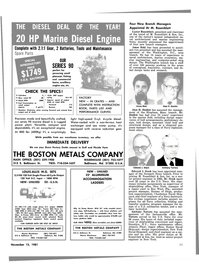 Maritime Reporter Magazine, page 47,  Nov 15, 1981 Florida