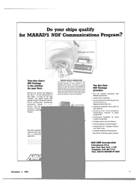 Maritime Reporter Magazine, page 13,  Dec 1981 New York