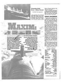 Maritime Reporter Magazine, page 20,  Dec 1981