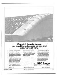 Maritime Reporter Magazine, page 19,  Dec 15, 1981 HBC Barge Inc.