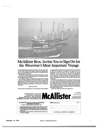 Maritime Reporter Magazine, page 1,  Dec 15, 1981 New York