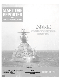 Maritime Reporter Magazine Cover Jan 15, 1983 -